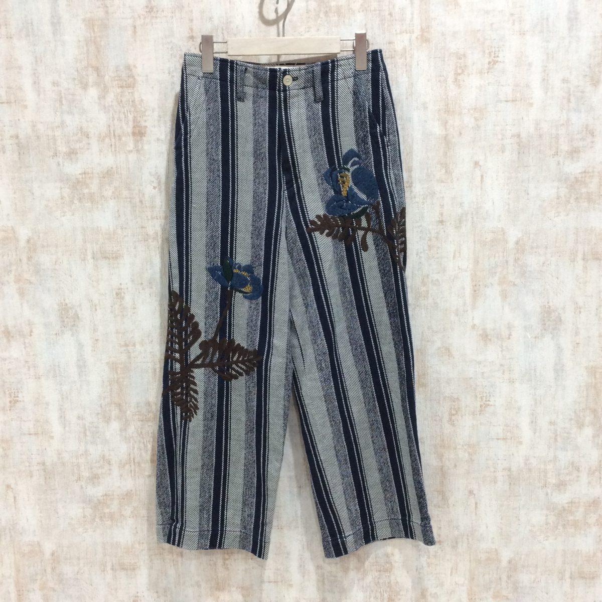45RPM フォーティファイブ プルメリア刺繍パンツ