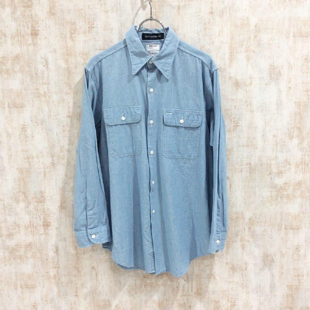マディソンブルー madison blue シャンブレー シャツ Long Chambray Shirt