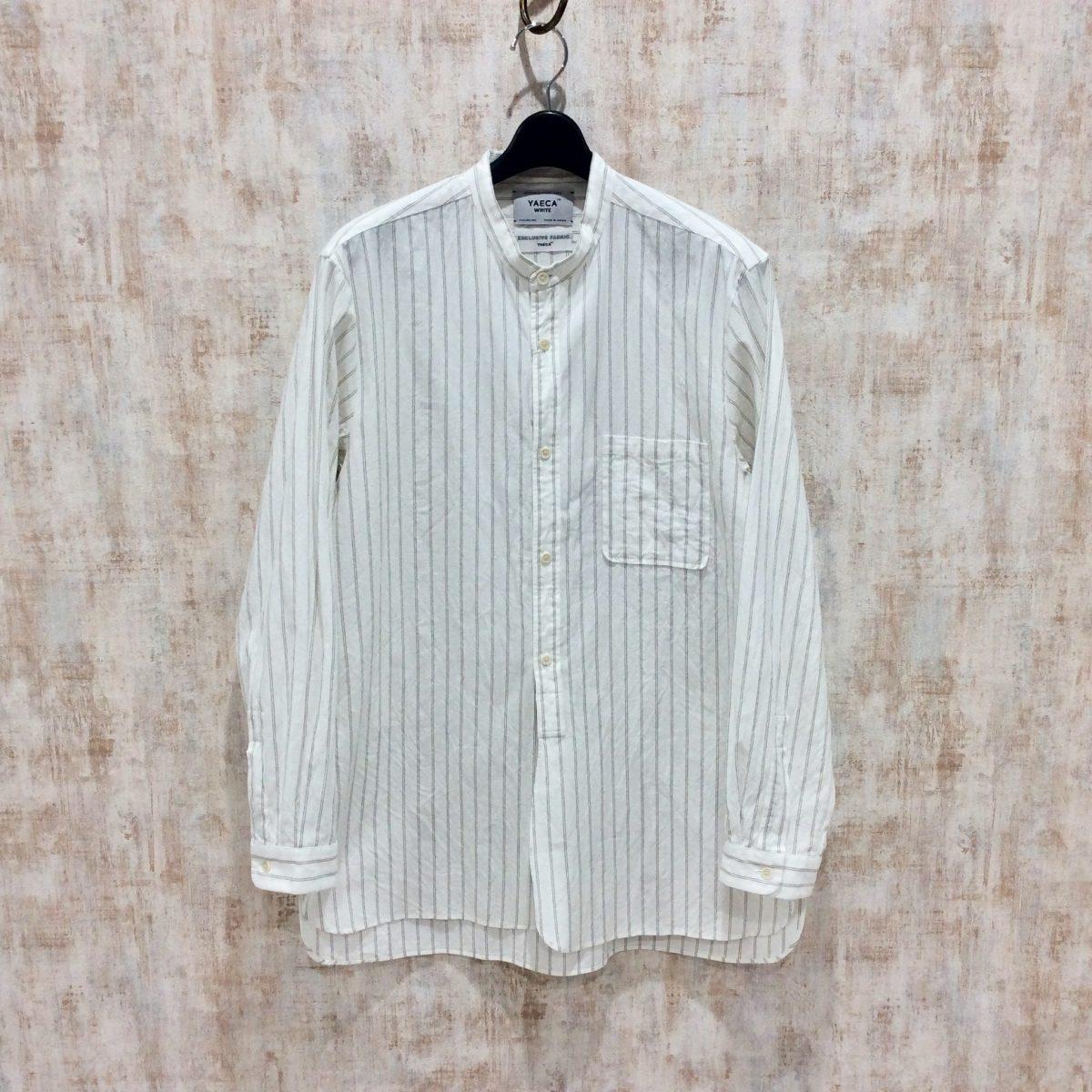 YAECA ヤエカ バンドカラーシャツ